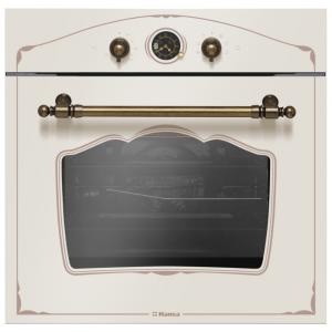 Духовка встраиваемая HANSA BOEY 68229 (59.5х57.5, эмаль легкой очистки, 66л, гриль, таймер, 8 реж. нагрева, мех. управление, цвет слоновая кость)