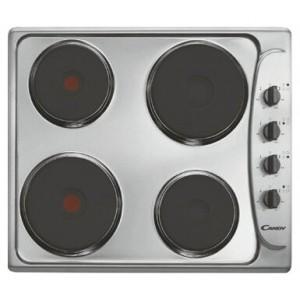 Варочная поверхность Candy PLE 64 X независимая, чугун (56*48, поверхность нержавеющая сталь, 4 чугун.конф.+ 2 экспресс, поворот.перекл.сбоку, серебро.)