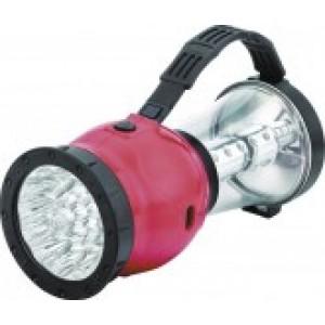 Фонарь Camelion LED 29318 (фонарь аккум. 220В кемп,19/24 LED,4В 2,3А-ч,пластик,красный,коробка)
