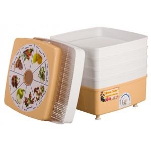 Сушилка для овощей и фруктов Ротор Дива Люкс СШ - 010 с 5 решетами в цветной упаковке (квадратная)