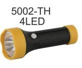 Фонарь Ultra Flash TH-5002 (фонарь черный,4LED,1реж,3ХR03,пласт, блист-пакет)
