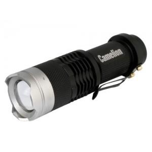 Фонарь Camelion LED 5135 черный, LED XPE, ZOOM, 3реж., 1xLR6 в комплекте, алюм, блистер