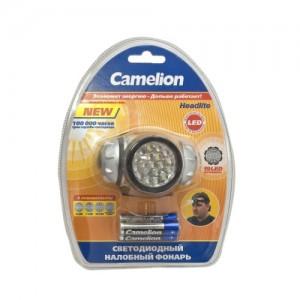 Фонарь Camelion LED 5318-7 Mx (налобный, металлик, 7straw LED, 2 режима, 3xAAA в комплекте