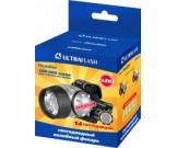 Фонарь Ultra Flash LED 5352 (налобн,металлик,14LED,4реж,3хR3,пласт.) уп.5шт.