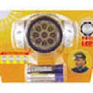 Фонарь Camelion LED 5322-16Mx (налобн, металлик, 16светодиодо,4 режима,3xAAA в ком-те,блис