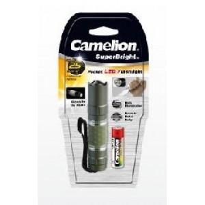 Фонарь Camelion Т5012-LR6BP (фонарь, флуор, металлик, 1 LED, 1ХLR6 в комплекте, алюм.,блистер) )