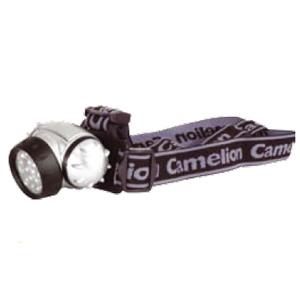 Фонарь Camelion LED 5323-19Mx (налобн, металлик, 19светодиодо,4 режима,3xAAA в ком-те,блис